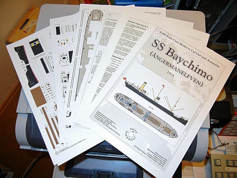 Erzfrachter Angemanelven 1:250 Kartonmodell Paper Shipwright Angerm10
