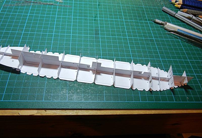 Erzfrachter Angemanelven 1:250 Kartonmodell Paper Shipwright Angerm15