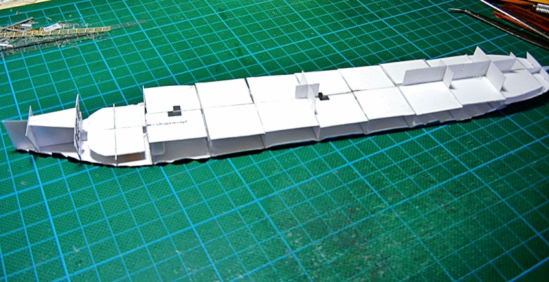Erzfrachter Angemanelven 1:250 Kartonmodell Paper Shipwright Angerm21