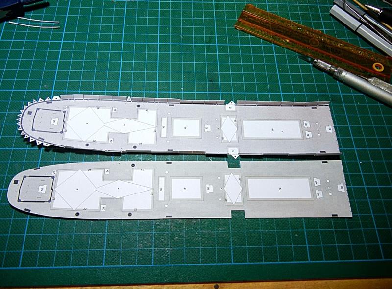 Erzfrachter Angemanelven 1:250 Kartonmodell Paper Shipwright Angerm24