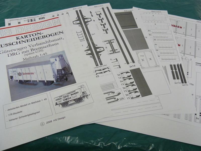 Güterwagen Verbandsbauart Palmbräu HS-Design 1:45 Kassel15