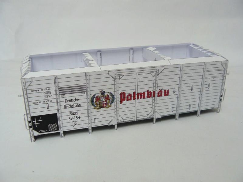 Güterwagen Verbandsbauart Palmbräu HS-Design 1:45 Kassel20