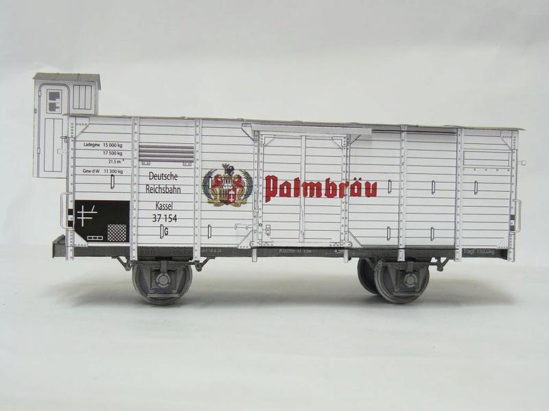 Güterwagen Verbandsbauart Palmbräu HS-Design 1:45 Kassel21