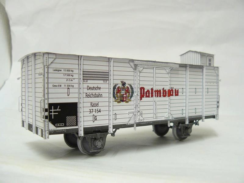Güterwagen Verbandsbauart Palmbräu HS-Design 1:45 Kassel22