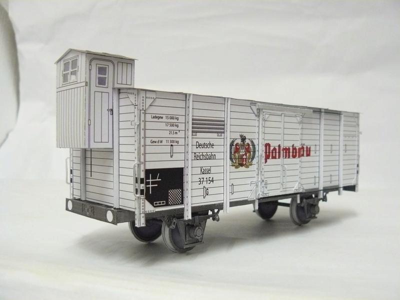 Güterwagen Verbandsbauart Palmbräu HS-Design 1:45 Kassel23