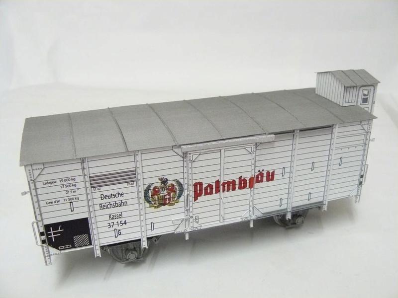 Güterwagen Verbandsbauart Palmbräu HS-Design 1:45 Kassel24