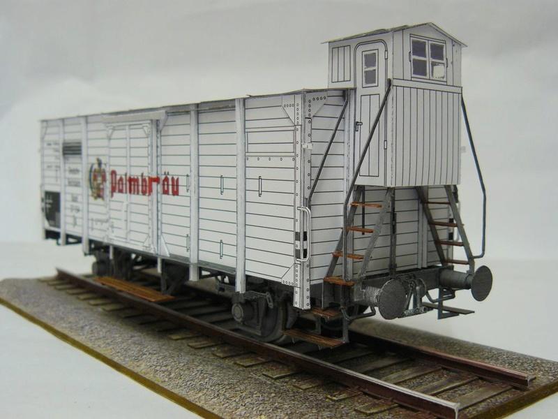 Güterwagen Verbandsbauart Palmbräu HS-Design 1:45 Kassel29