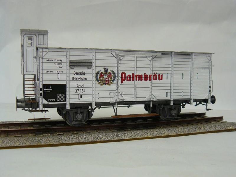 Güterwagen Verbandsbauart Palmbräu HS-Design 1:45 Kassel30