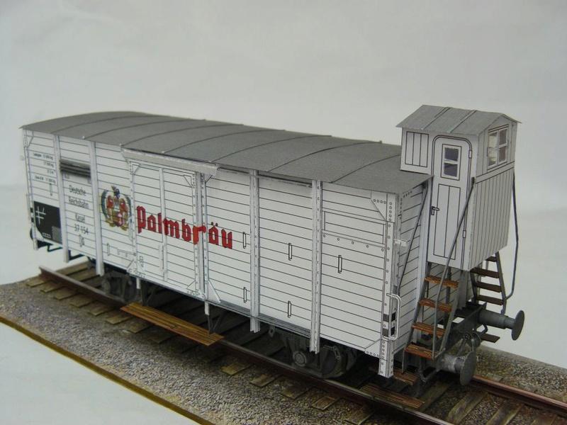 Güterwagen Verbandsbauart Palmbräu HS-Design 1:45 Kassel31