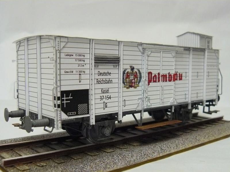 Güterwagen Verbandsbauart Palmbräu HS-Design 1:45 Kassel32