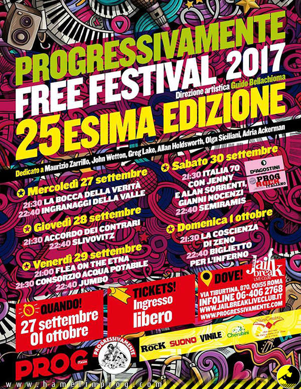 Progressivamente free Festival 2017 (al Jailbreak Live Club di Roma 27/9 - 01/10) Progre10