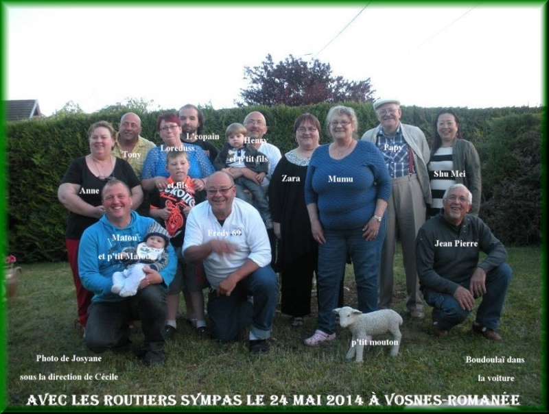 les souvenirs de nos rencontres Groupe12
