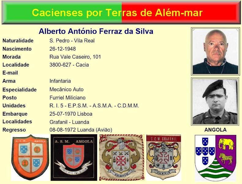 Faleceu o veterano Alberto António Ferraz da Silva, Furriel Mil.º, da CDMM/ASMA - 31Jul2017 Albert10