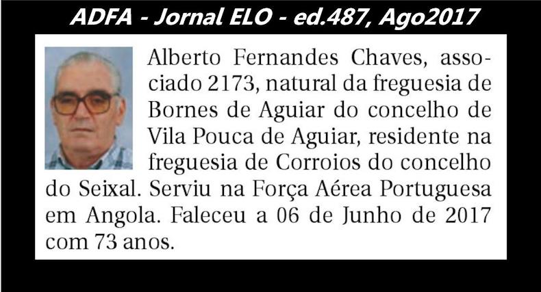 Notas de óbito publicadas no jornal «ELO», da ADFA, de Agosto de 2017 Albert12