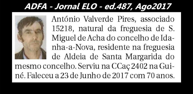 Notas de óbito publicadas no jornal «ELO», da ADFA, de Agosto de 2017 Antoni13