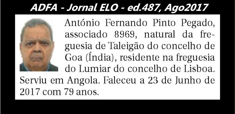 Notas de óbito publicadas no jornal «ELO», da ADFA, de Agosto de 2017 Antyni13