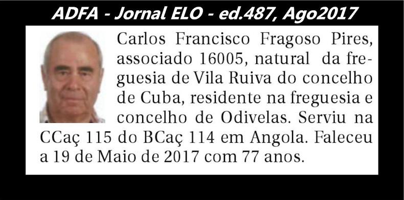 Notas de óbito publicadas no jornal «ELO», da ADFA, de Agosto de 2017 Carlos11
