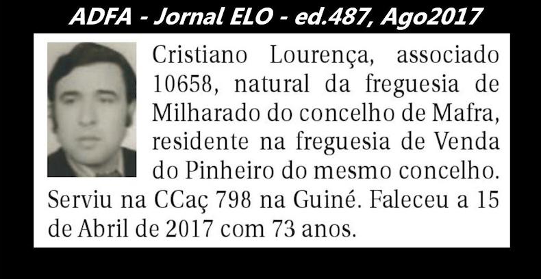 Notas de óbito publicadas no jornal «ELO», da ADFA, de Agosto de 2017 Cristi11
