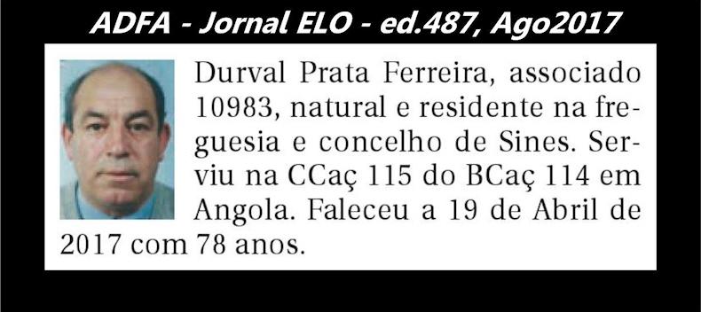 Notas de óbito publicadas no jornal «ELO», da ADFA, de Agosto de 2017 Durval11