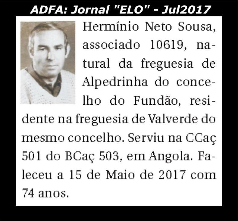 Notas de óbito publicadas no jornal «ELO», da ADFA, de Julho de 2017 Hermyn10