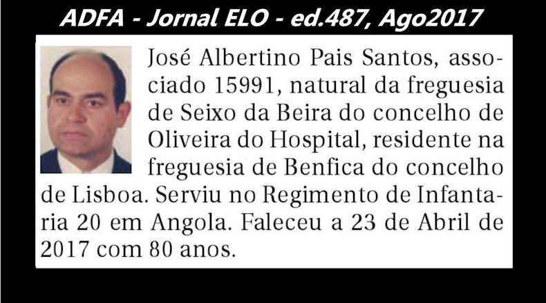 Notas de óbito publicadas no jornal «ELO», da ADFA, de Agosto de 2017 Jose_a12