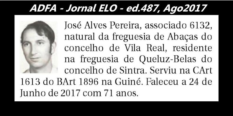 Notas de óbito publicadas no jornal «ELO», da ADFA, de Agosto de 2017 Jose_a13