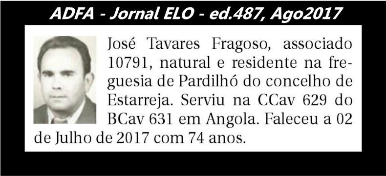 Notas de óbito publicadas no jornal «ELO», da ADFA, de Agosto de 2017 Jose_t11