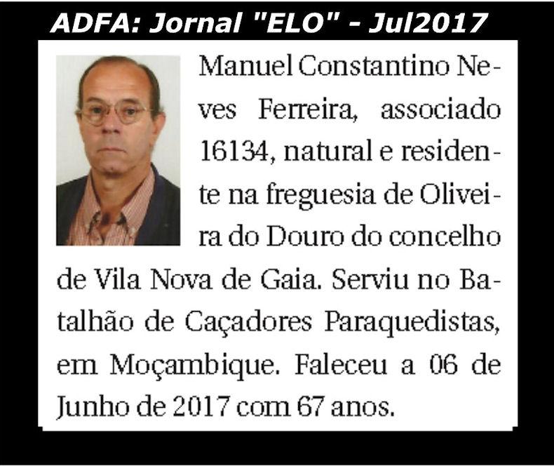 Notas de óbito publicadas no jornal «ELO», da ADFA, de Julho de 2017 Manuel10