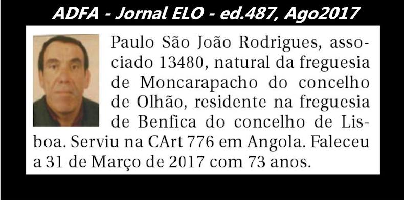 Notas de óbito publicadas no jornal «ELO», da ADFA, de Agosto de 2017 Paulo_12