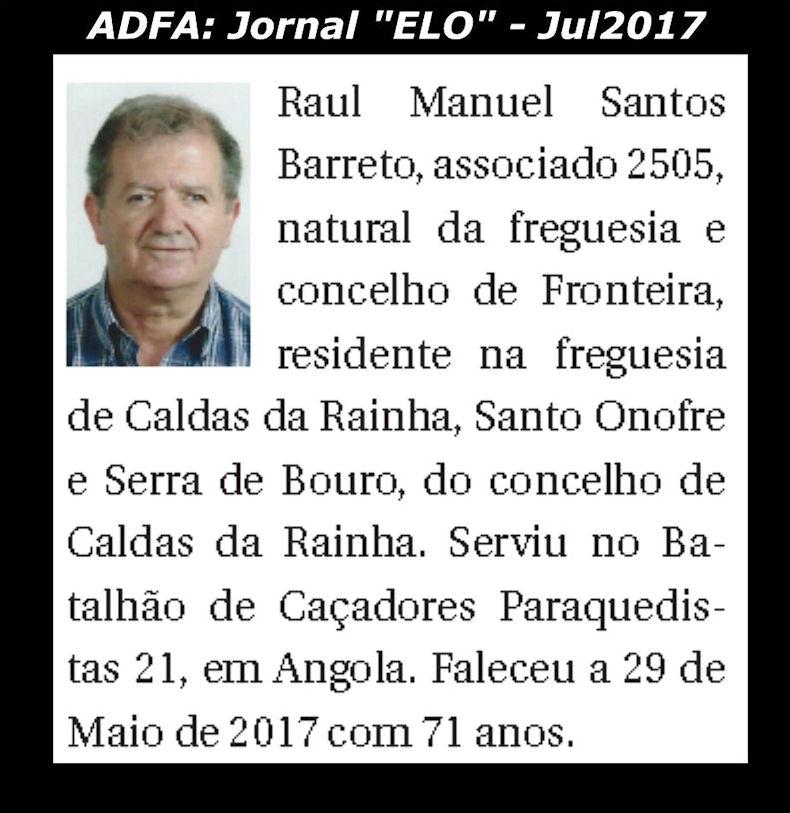 Notas de óbito publicadas no jornal «ELO», da ADFA, de Julho de 2017 Raul_m10