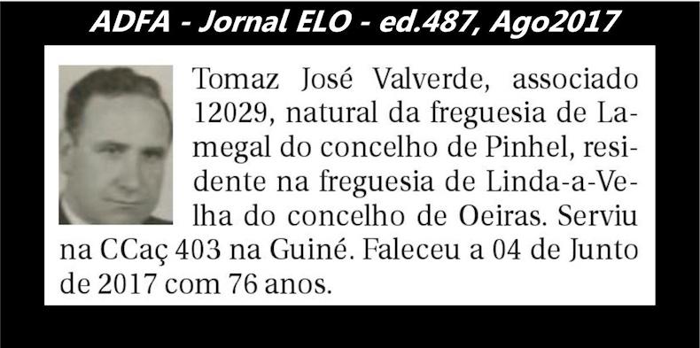 Notas de óbito publicadas no jornal «ELO», da ADFA, de Agosto de 2017 Tomaz_11
