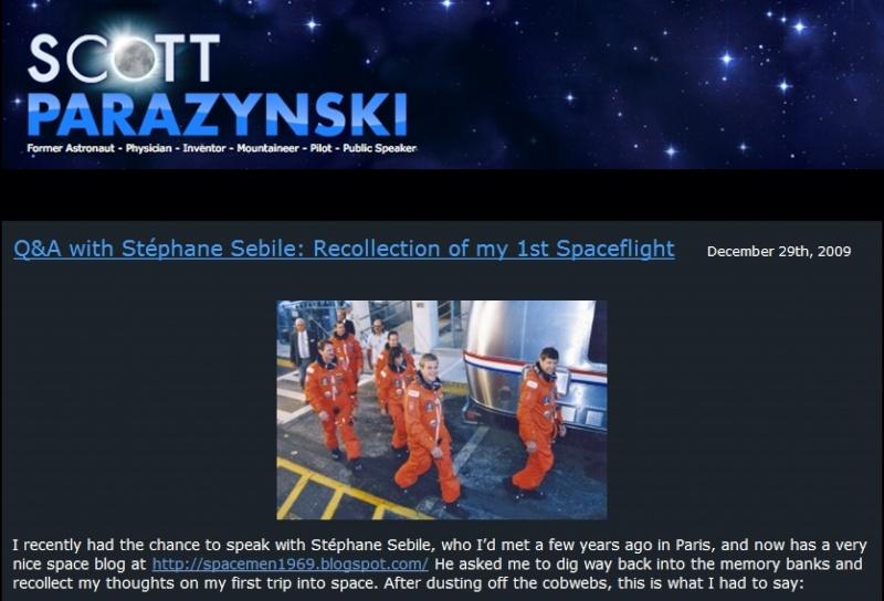 Création du site de Scott Parazynski Blog-s10