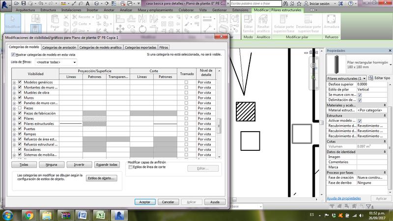 Visualización de columnas en planta Captur16