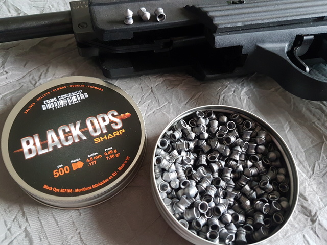 Plombs Black ops Sharp ... 4.5mm  20170929