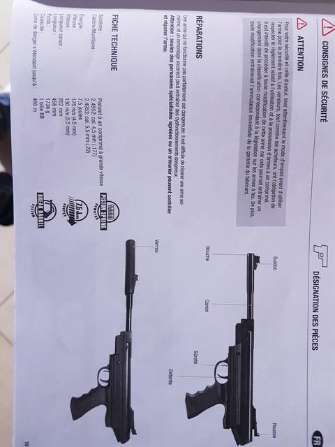 Votre avis sur le Pistolet Browning 800 mag cal 4.5  20170948