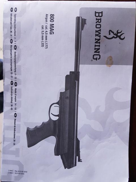 Votre avis sur le Pistolet Browning 800 mag cal 4.5  20170949