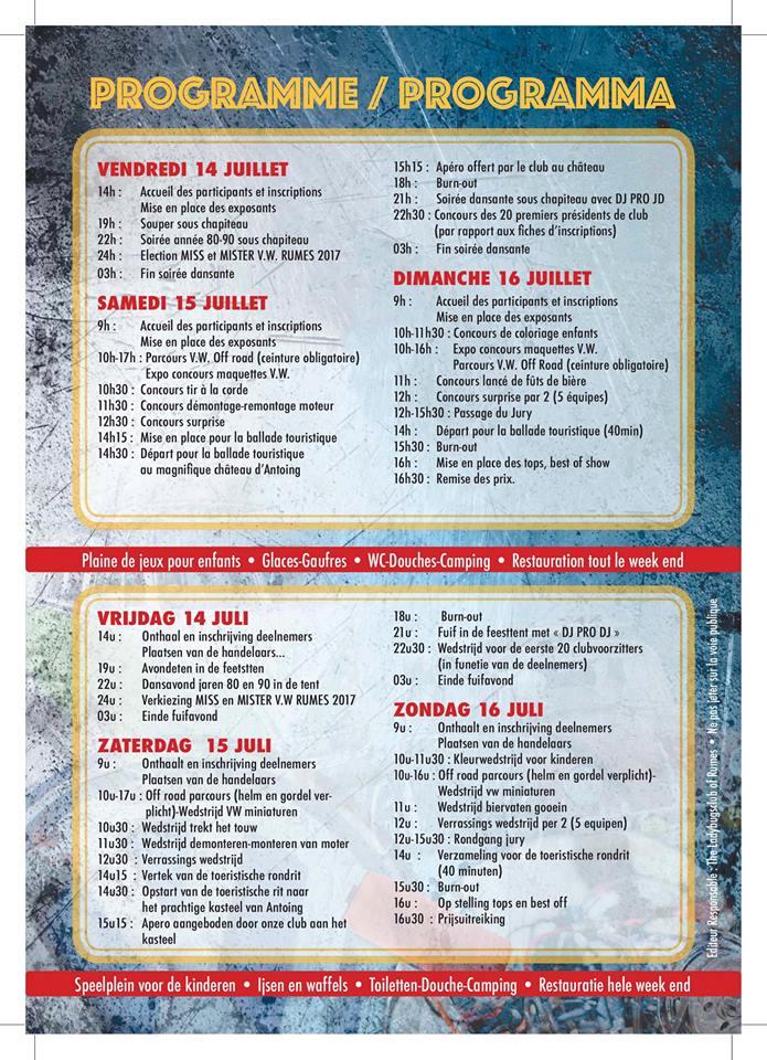 14-15-16 JUILLET 2017 - 23° VW RUMES BELGIQUE 18740710