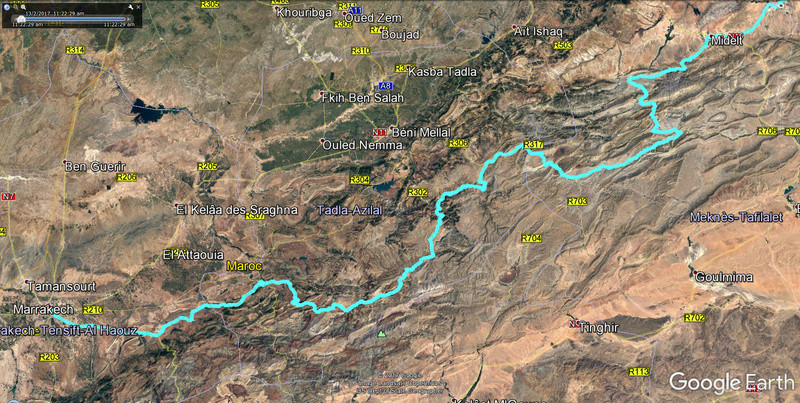 Haut Atlas de Marrakech a Figuig - Juin 2017 Plan_m10