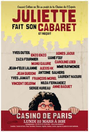 Juliette fait son cabaret, le 22/03/2010 au Casino de Paris 09122310