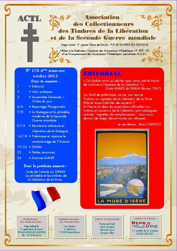 LA REVUE N° 178 4ème TRIMESTRE 2012  Actl_110