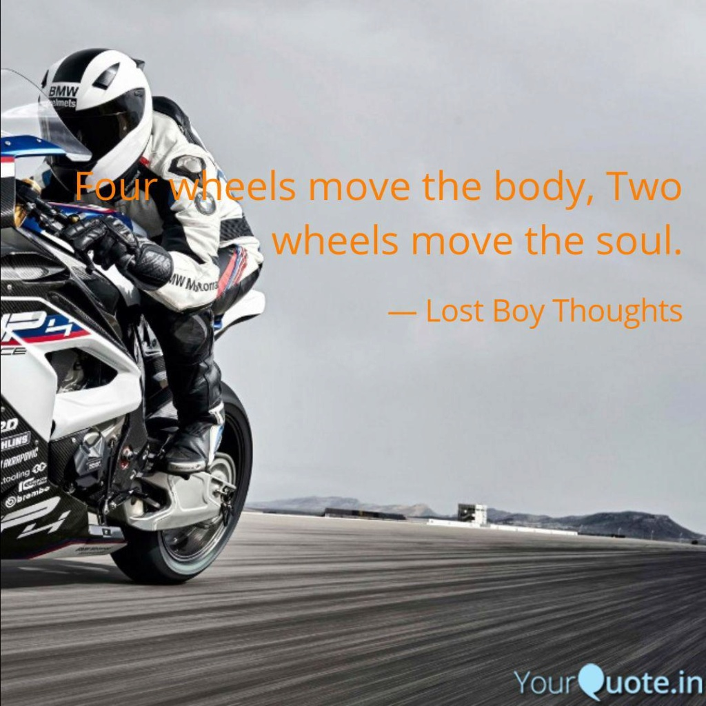 Four Wheels move the Body. Two Wheels move the Soul. - Página 7 Xo921710
