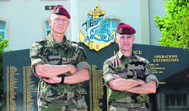 Le Colonel Bertrand Debray nouveau chef de corps du 8eRPIMa Rpima_10