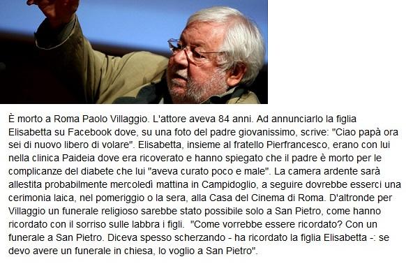 Addio a Paolo Villaggio Villag10