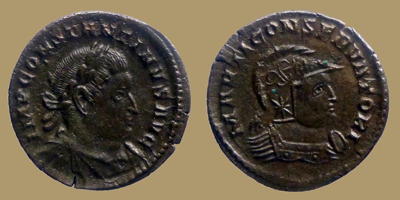 Deux Constantins issus des mêmes coins 0740210