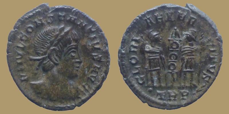 Absentes de la BDD -- Constance II auguste pour Trêves et Delmace pour Aquilée  0746710