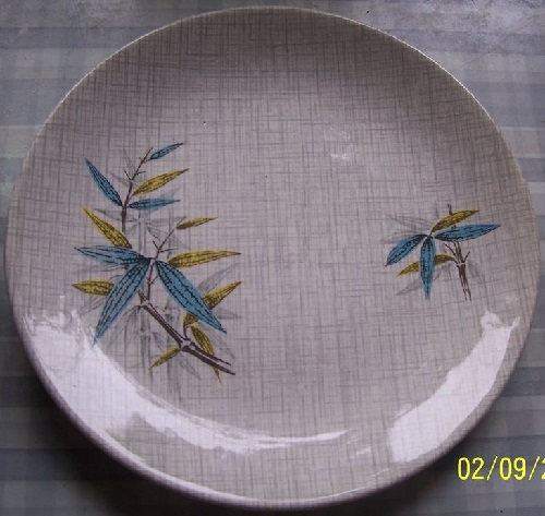 Blue Bamboo on Fabrique Kelston Potteries Blue_b10