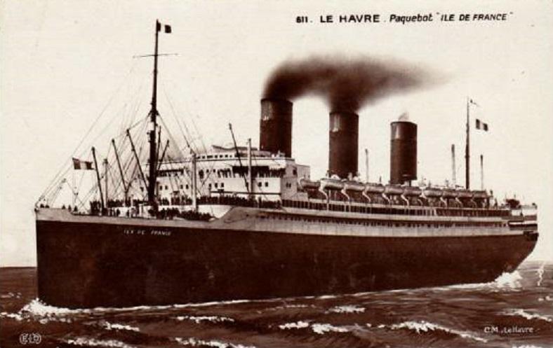 * ÎLE DE FRANCE (1940/1943) * Paqueb10