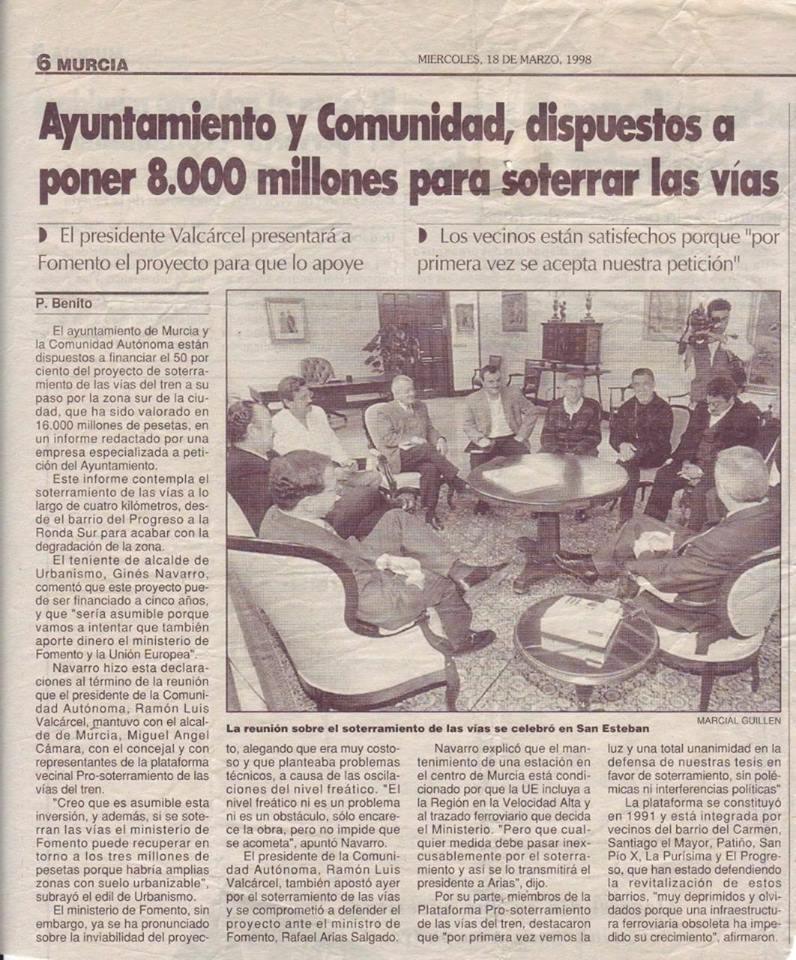 el AVE quizá llegará soterrado a Murcia pero la impunidad política camina por la superficie. - Página 2 21742910
