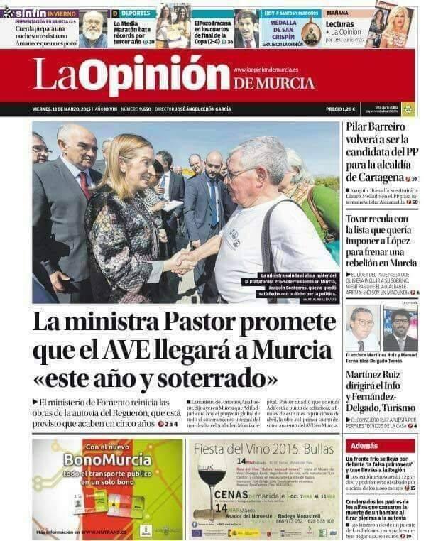 el AVE quizá llegará soterrado a Murcia pero la impunidad política camina por la superficie. - Página 4 22308710