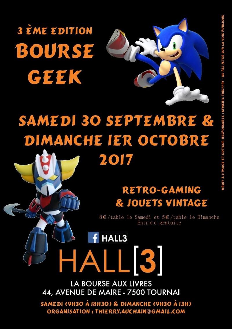 Bourse geek/retro-gaming/vintage toys à Tournai (Belgique) 3ème édition, les 30/09 et 01/10 Affich10